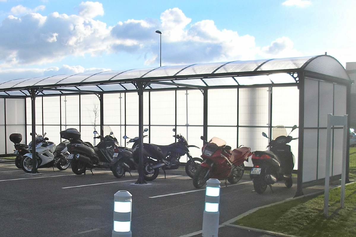 Fabriquer Un Abri Pour Velo abri vélo / moto, abri toit arrondi série at - ateliers letort